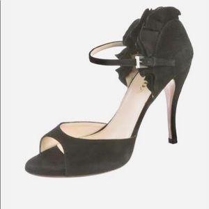 PRADA suede heel sandals open toe camoscio. Italy.